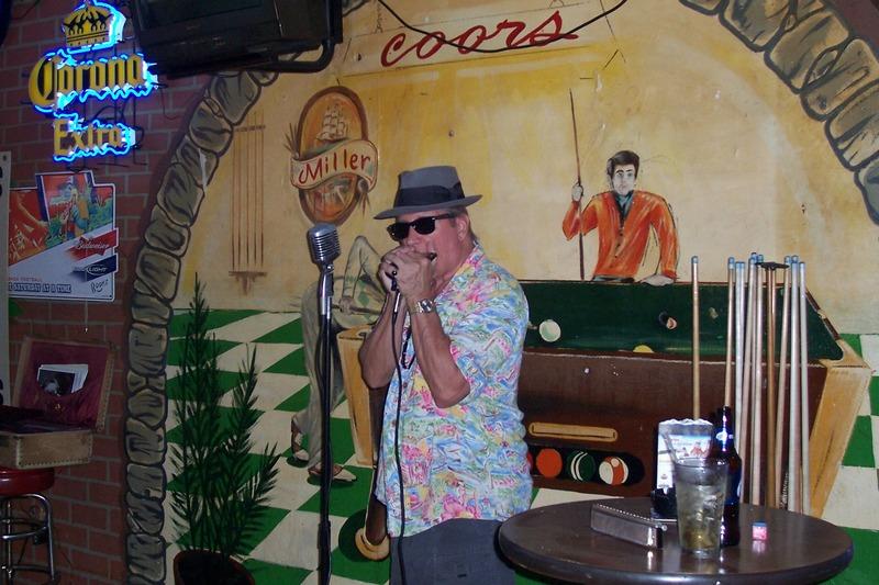 Johnny on the harmonica